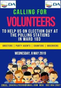 National Elections South Africa: 8 May 2019